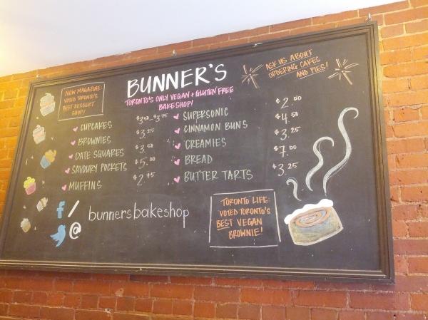 Bunner's Menu