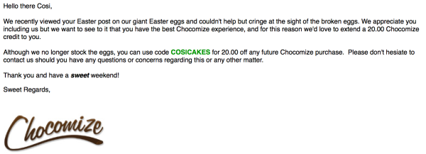 Chocomize Email