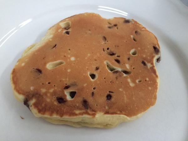 Chocolate Chip Egg Nog Pancake